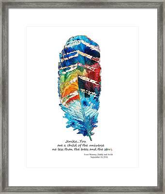 Custom Art - Jenika Child Of The Universe Framed Print by Sharon Cummings
