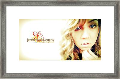 Jennette Mccurdy - Christmas Gem Framed Print by Robert Radmore
