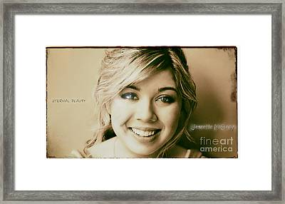 Jennette Mccurdy - Eternal Beauty Framed Print by Robert Radmore