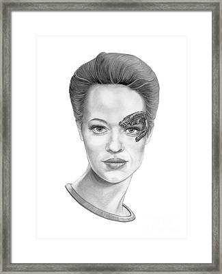 Jeri Ryan Seven Of Nine Framed Print by Murphy Elliott