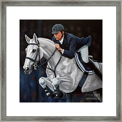 Jeroen Dubbeldam On The Sjiem Framed Print by Paul Meijering
