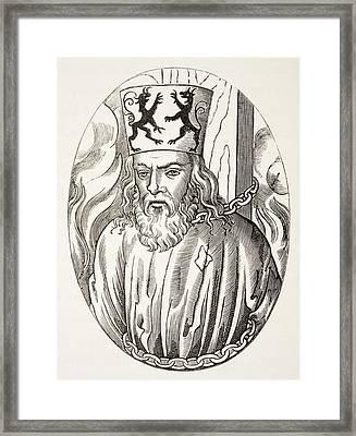 Jerome Of Prague, 1379 To 1416. Czech Framed Print by Vintage Design Pics