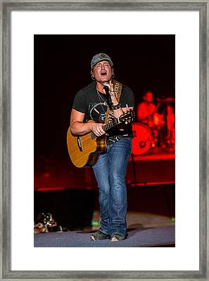 Jerrod Niemann Guitar 2 Framed Print by Mike Burgquist