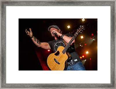 Jerrod Niemann Guitar 3 Framed Print by Mike Burgquist