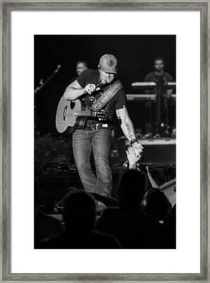 Jerrod Niemann Guitar Framed Print by Mike Burgquist