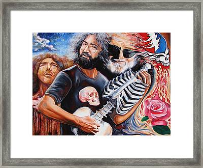 Jerry Garcia And The Grateful Dead Framed Print by Darwin Leon