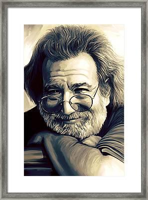 Jerry Garcia Artwork  Framed Print by Sheraz A