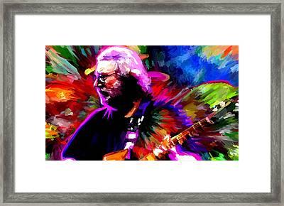 Jerry Garcia Grateful Dead Signed Prints Available At Laartwork.com Coupon Code Kodak Framed Print by Leon Jimenez