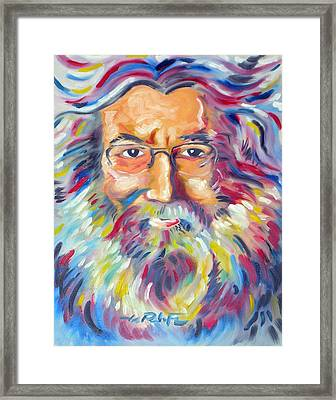 Jerry Garcia Framed Print by Joseph Palotas