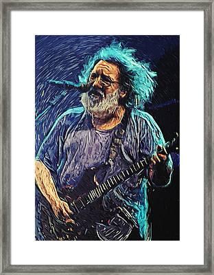 Jerry Garcia Framed Print by Taylan Soyturk