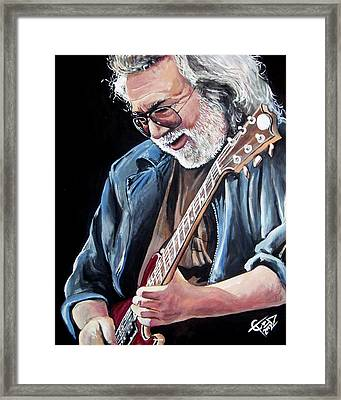 Jerry Garcia - The Grateful Dead Framed Print by Tom Carlton