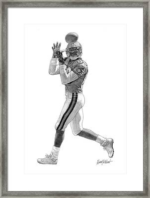Jerry Rice Framed Print by Harry West