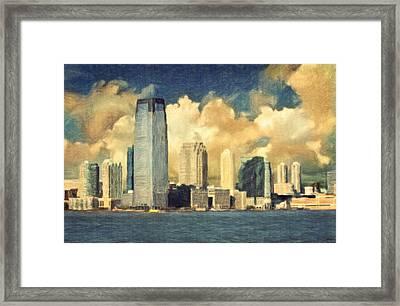 Jersey City Skyline Framed Print by Taylan Soyturk