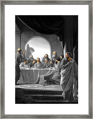 Jerusalem Last Supper Framed Print by Munir Alawi