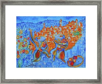 Jerusalem Of Gold Framed Print by Leon Zernitsky