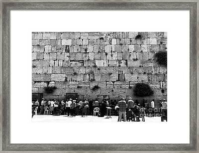 Jerusalem Prayers Framed Print by John Rizzuto