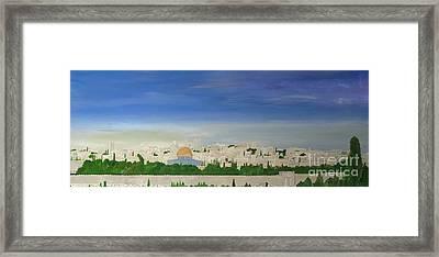 Jerusalem Skyline Framed Print by Karen Jane Jones