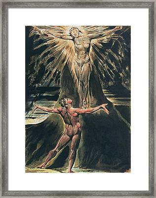Jerusalem The Emanation Of The Giant Albion Framed Print by William Blake