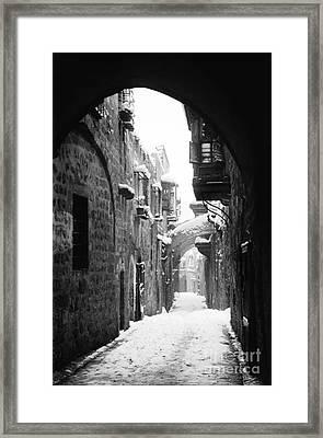 Jerusalem: Winter Framed Print by Granger
