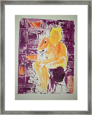 Jessica In My Studio Framed Print by James Christiansen