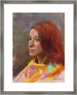 Jessica Portrait Demo Framed Print by Anna Rose Bain