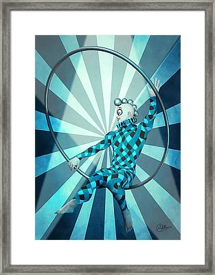Jester Boy Blue Framed Print by Quim Abella