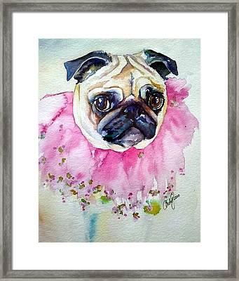Jester Pug Framed Print by Christy  Freeman