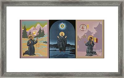 Jesuit Triptych-st Peter Faber-st Ignatius-st Francis Xavier Framed Print by William Hart McNichols