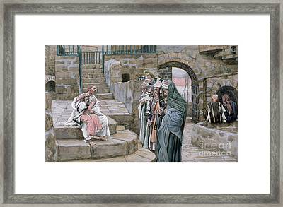 Jesus And The Little Child Framed Print by Tissot