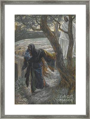 Jesus Appears To Mary Magdalene Framed Print by Tissot