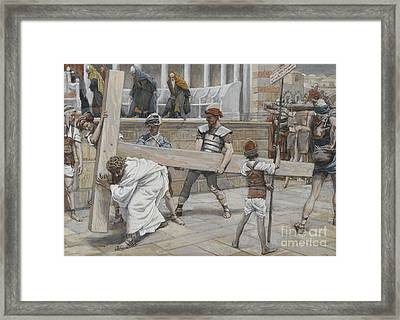 Jesus Bearing The Cross Framed Print by Tissot