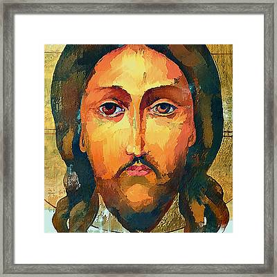 Jesus Christ Icon Framed Print by Yury Malkov