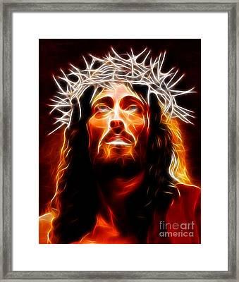 Jesus Christ Our Savior Framed Print by Pamela Johnson