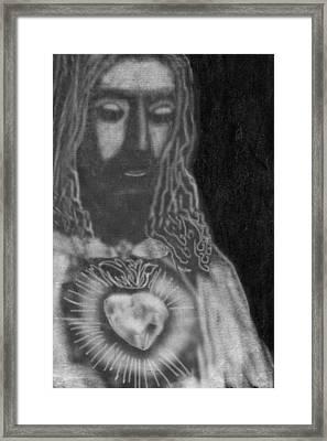 Jesus Christ Framed Print by Art Spectrum