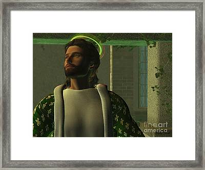 Jesus Framed Print by Corey Ford