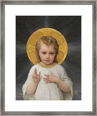 Jesus Framed Print by Emile Munier