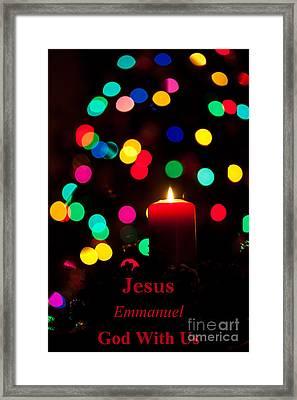 Jesus Emmanuel God With Us Framed Print by Wayne Moran