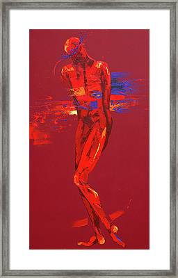 Jesus Is Stripped  Station Ten Framed Print by Penny Warden
