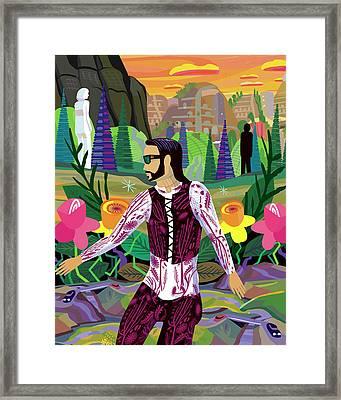 Jesus Jr. En Tepoztlan Framed Print by Charles Harker