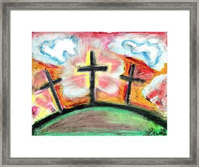 Jesus Loves You Framed Print by Levi Glassrock