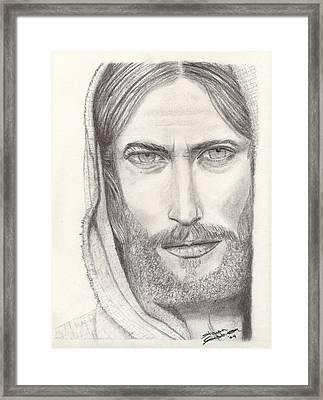 Jesus Of Nazareth Framed Print by Shawn Sanderson