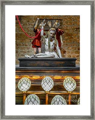 Jesus Suffering Framed Print by Adrian Evans