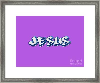 Jesus Tee Framed Print by Edward Fielding