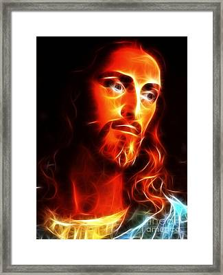 Jesus Thinking About You Framed Print by Pamela Johnson
