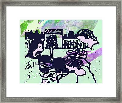 Jesus With Mary And Martha Iv Framed Print by Adam Kissel