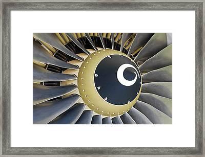 Jet Engine Detail. Framed Print by Fernando Barozza