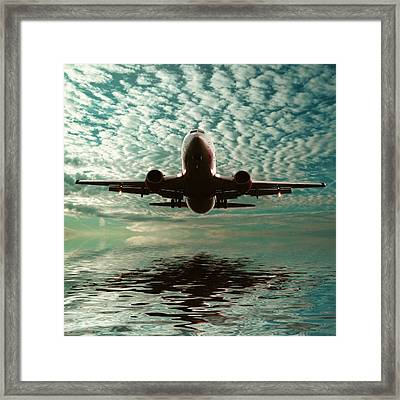 Jet Square Framed Print by Sharon Lisa Clarke