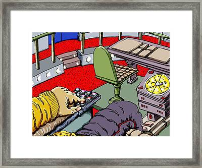 Jetisoning The Pod Framed Print by Gregg Dutcher