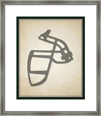Jets Face Mask Framed Print by Joe Hamilton