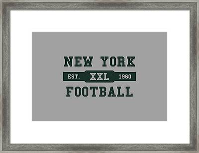 Jets Retro Shirt Framed Print by Joe Hamilton